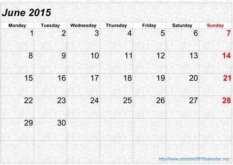 printable calendar june 2015 7 best images of june july 2015 calendar printable june