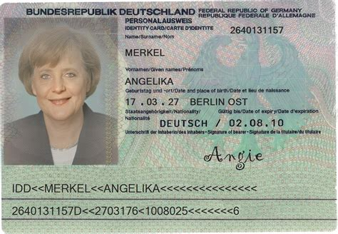 german id card template id card der ausweis shop