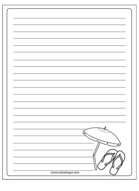 carta da lettere per bambini estate carta da lettere da colorare tuttodisegni
