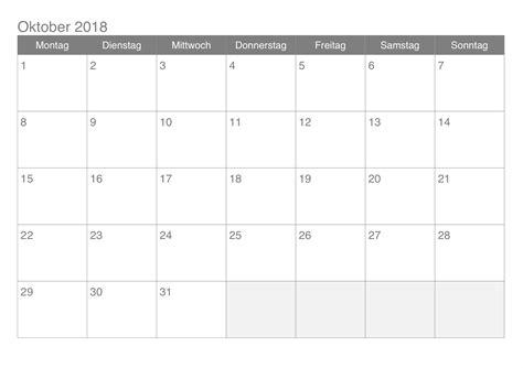 Kalender 2018 Pdf Ausdrucken Kalender Oktober 2018 Zum Ausdrucken Pdf Excel Word