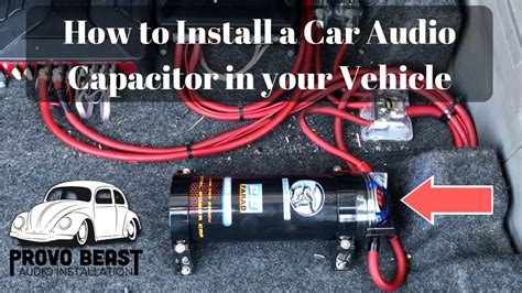 how to hook up two capacitors to one how to install a car audio capacitor in your vehicle