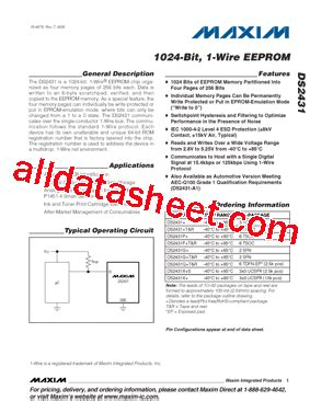 maxim integrated products phone number ds2431 datasheet pdf maxim integrated products