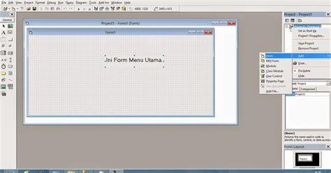 membuat form login sederhana dengan vb 6 0 love timor membuat form login di visual basic 6 0