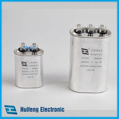 capacitor on air conditioner what does it do cbb65 air conditioner capacitor view cbb65 capacitor 25uf huifeng product details from taizhou
