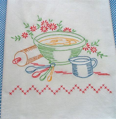 Kitchen Towel Embroidery Designs Embroidery Kitchen Towels Http Lomets