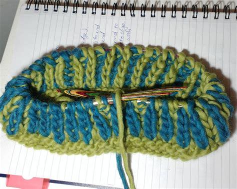 knit brioche in the brioche knitting in the make a chunky cowl
