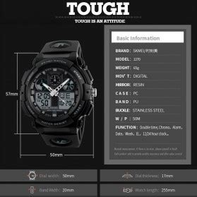 Jam Tangan Digital Led Touch Screen Lis Gold Hijau skmei jam tangan analog digital pria ad1270 black gold jakartanotebook