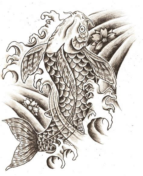 tattoo designs coy fish koi fish