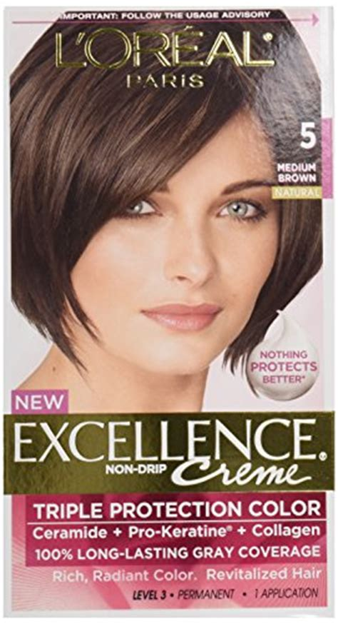 l oreal excellence creme hair colors medium and haircolor l oreal excellence 5 medium brown hair color 1 ct all secret
