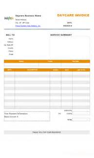 daycare invoice template cleaning service invoice template