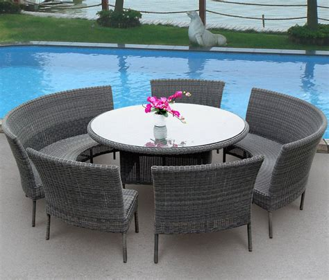 Furniture Round Table Patio Dining Sets With Outdoor White