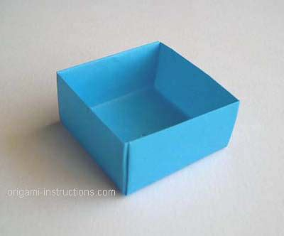Easy Origami Box - origami box with lid easy