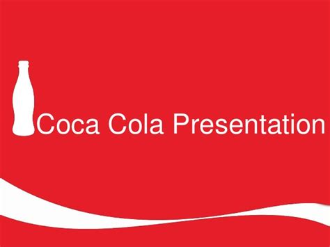 Coca Cola Presentaion Coca Cola Powerpoint Template