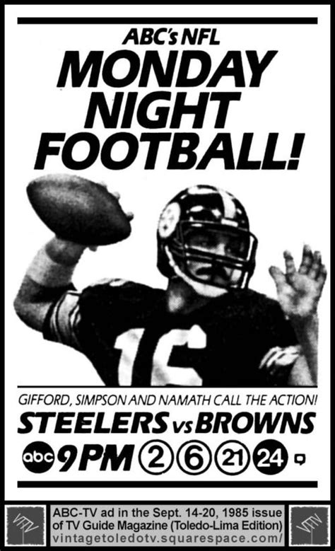 Monday Football Also Search For Monday Football Print Ad Abc Sports