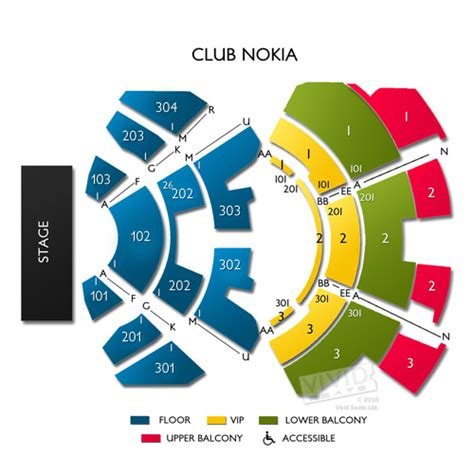 club nokia seating chart the novo by microsoft tickets the novo by microsoft