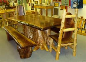 Log Dining Room Sets Artistic Rustic Dining Room Set 171 The Log Builders