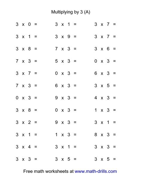 multiplication worksheets 0 3 multiplication test 0 3 multiplication facts worksheets from the s guidemad minute mad