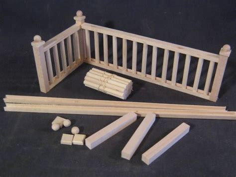 dolls house railings railing kit 2 stairs dollhouse balcony guard 12 quot rk2 1 12 scale miniature miniature
