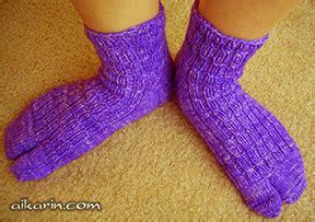 knitting pattern japanese tabi socks aikarin s knitting modified tabi socks