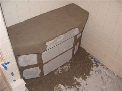 cinder block shower bench shower bench ceramic tile advice forums john bridge