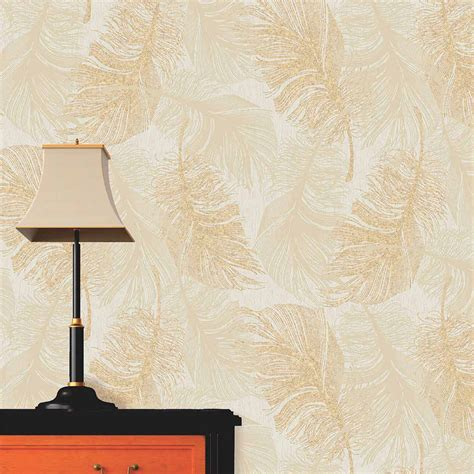 gold effect wallpaper coloroll feathers wallpaper gold effect
