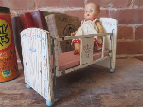 Vintage Doll Crib Wood by Vintage Doll Crib Antique Wood And Metal Doll Crib