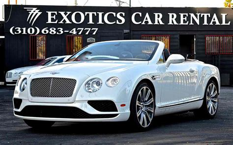 los angeles luxury exotic car rental white bentley gt