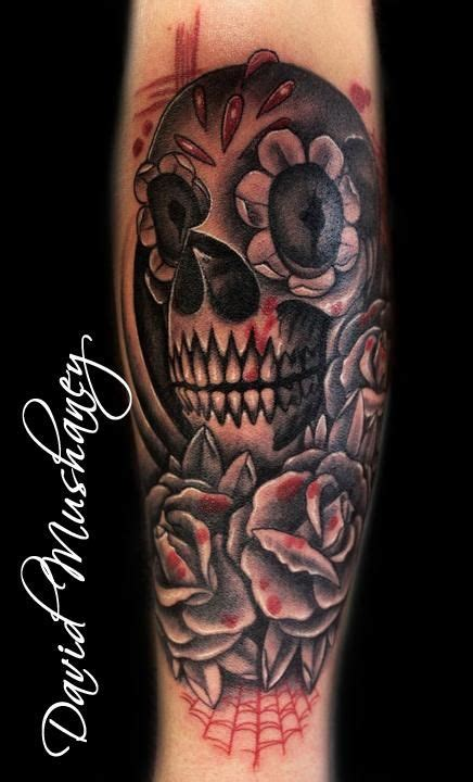 half skull half rose tattoo skull and sleeve and gray skull and roses