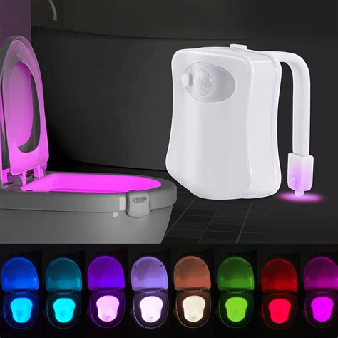 amazon motion sensor light 8 colors motion sensor toilet light human motion activated