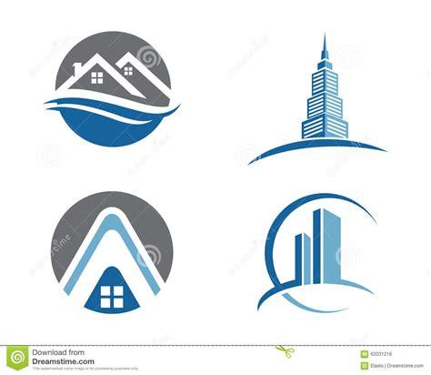 Garage Apartment Plans property logo template stock vector image 62031216
