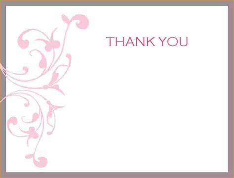 beautiful thank you card template search results for free printable thank you