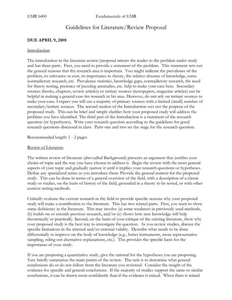 sle of literature review for research paper research literature review template 28 images