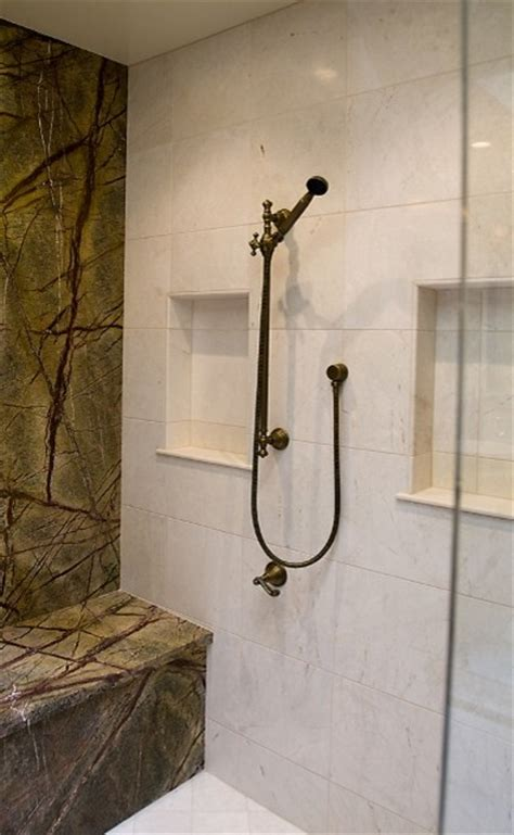 modern shower    flair traditional