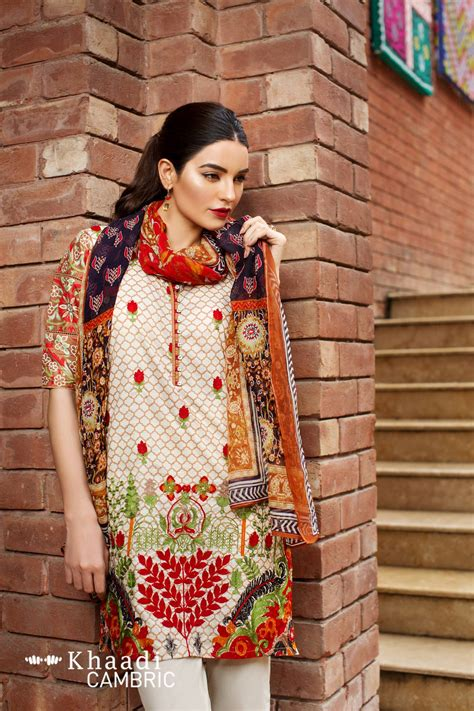 khaadi unstitched cambric collection price  catalog