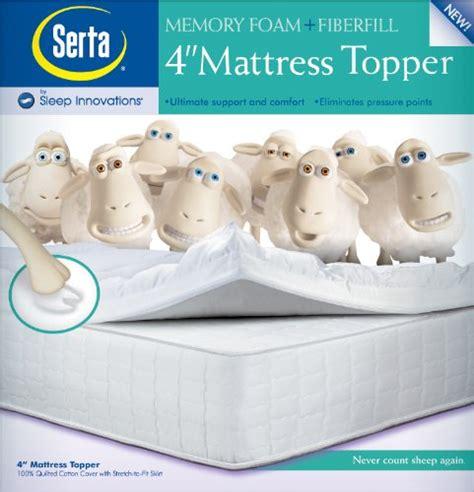 cheap serta 4 inch memory foam mattress topper mattressstore