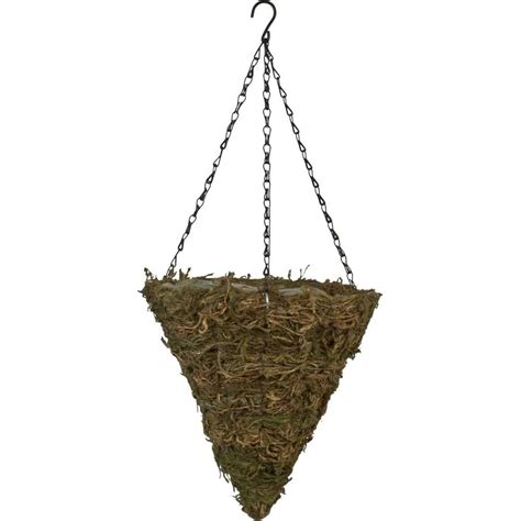 Hanging Planter Chain by Pride Garden Products 12 In Fern Moss Cone Coconut Fiber