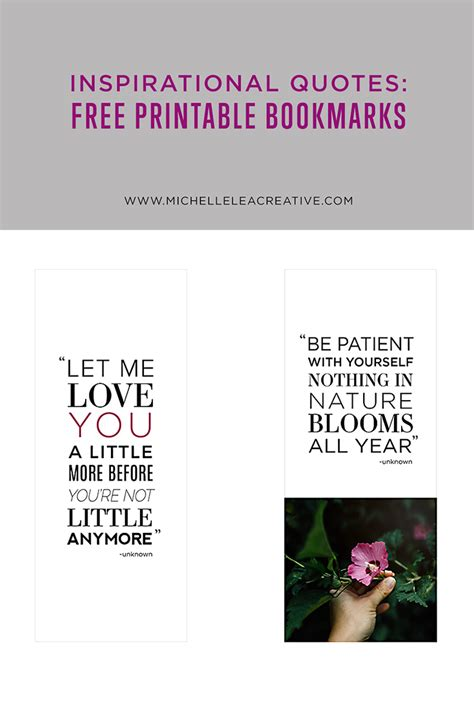 printable bookmarks with inspirational quotes inspirational quotes free printable bookmarks the