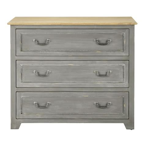 wooden chest of drawers grey w 95cm honorine maisons du