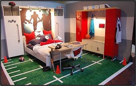 sports themed boys room teen boys sports theme bedrooms room design inspirations
