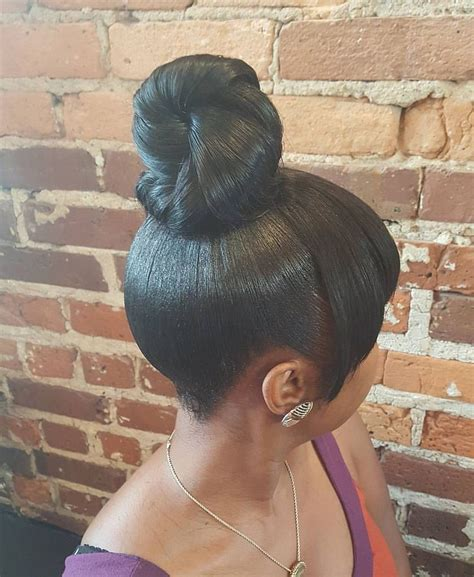 Black Hairstyles With Buns by Black Hairstyles With Bangs And Buns Hairstyle Of Nowdays