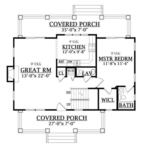 craftsman cottage floor plans craftsman cottage 6643 3 bedrooms and 2 baths the