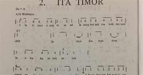 lirik lagu timor fula roja not angka pianika lagu ita timor