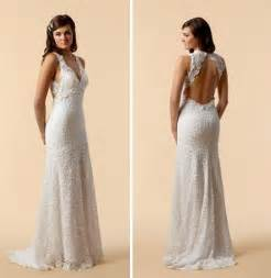 wedding dress lace open back vintage lace wedding dress open back ipunya