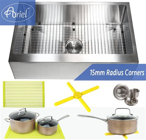 30 inch bowl apron sink ariel 30 inch stainless steel flat front farm apron single