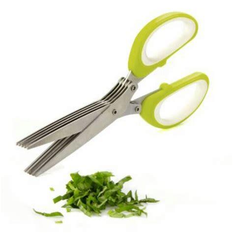 Herb Scissors Gunting Sayur 5 Layer 5 blade herb scissors kitchen gadgets