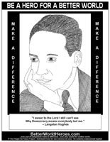 langston hughes printable biography langston hughes do one thing heroes for a better world