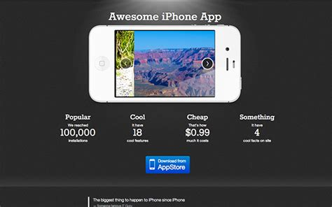 bootstrap themes iphone theme for awesome iphone app landing pages