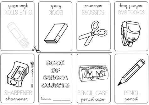 coloring pages for kids classroom objects book school objects