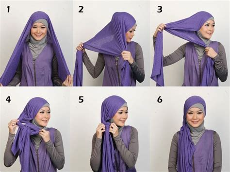 tutorial cara berhijab simple how to wear hijab to be more comfortable