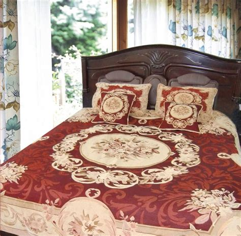 tapestry bedding dada bedding soft red victorian medallion chenille